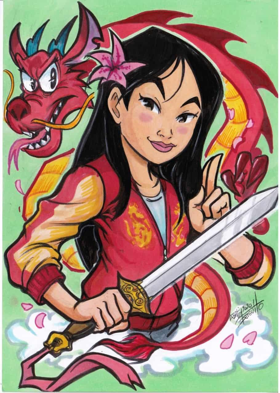 Mulan Illust of Djiguito oc fanart Disneyland Disney princess Djiguito Mulan