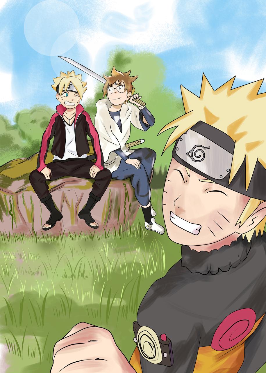 3 big united, Naruto, Boruto, Hachimaru