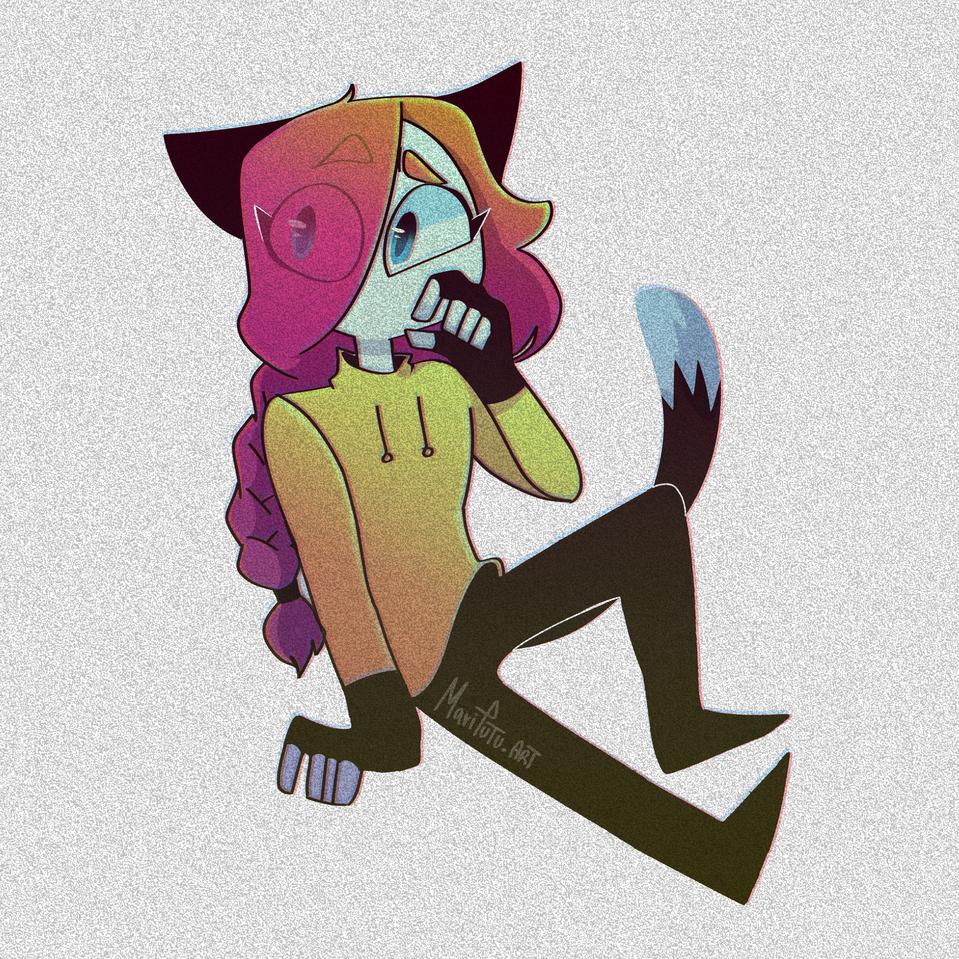 Distorsiones owo Illust of Mari DOGvsCAT_CAT medibangpaint