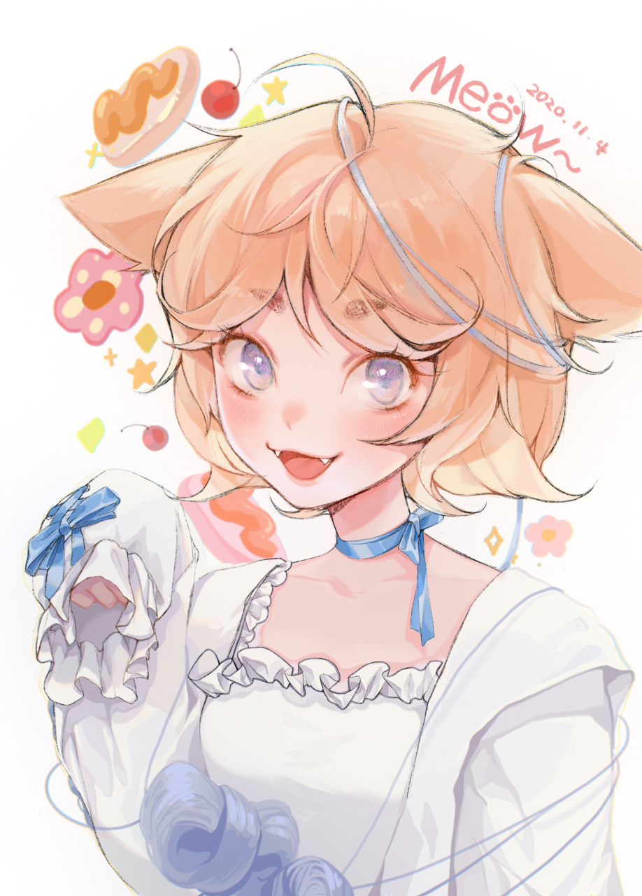猫娘 Illust of 一口酉 September2020_Contest:Furry illustration cat 兽设 blonde cat_ears girl oc cute