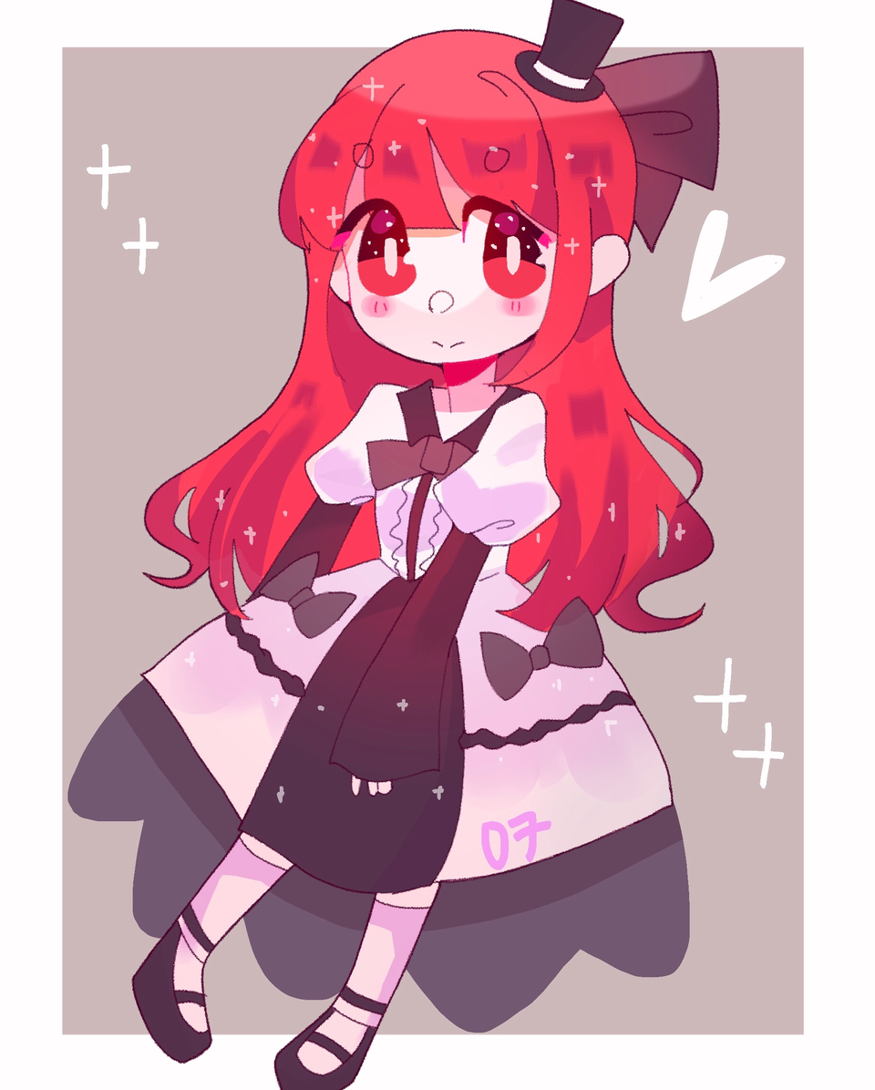 new oc I guess Illust of pErSon cute witch red medibangpaint girl oc