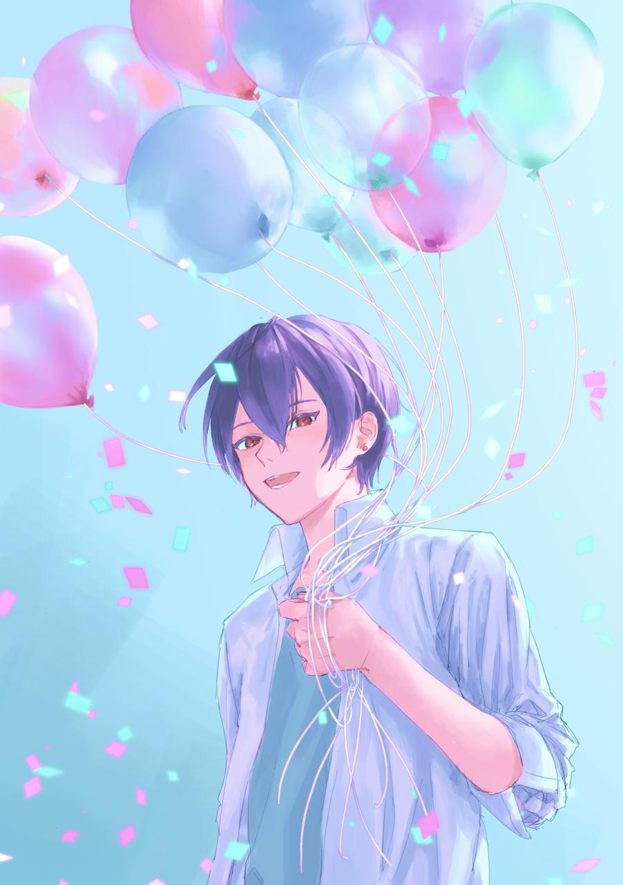 風船 Illust of 杏柚 oc original boy