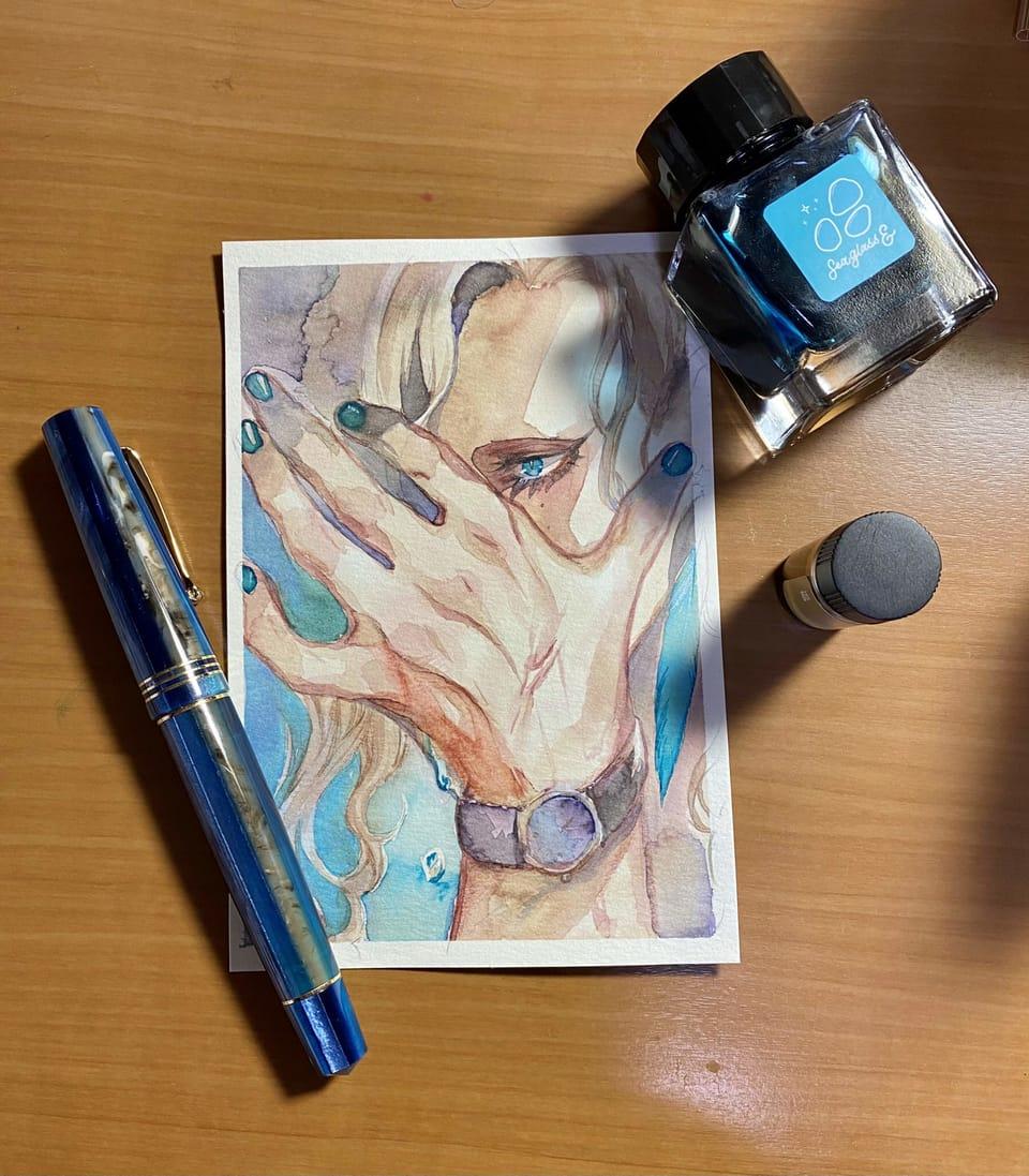 漣 Illust of 桐生 インクだまりのアトリビュート original AnalogDrawing