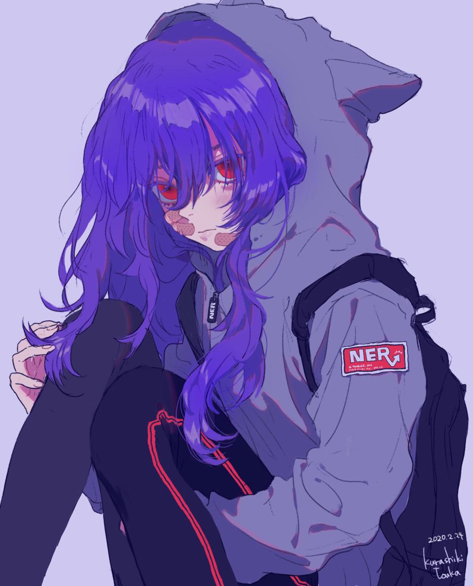 お題絵 Illust of 倉敷藤花 hoodie cat_ears original