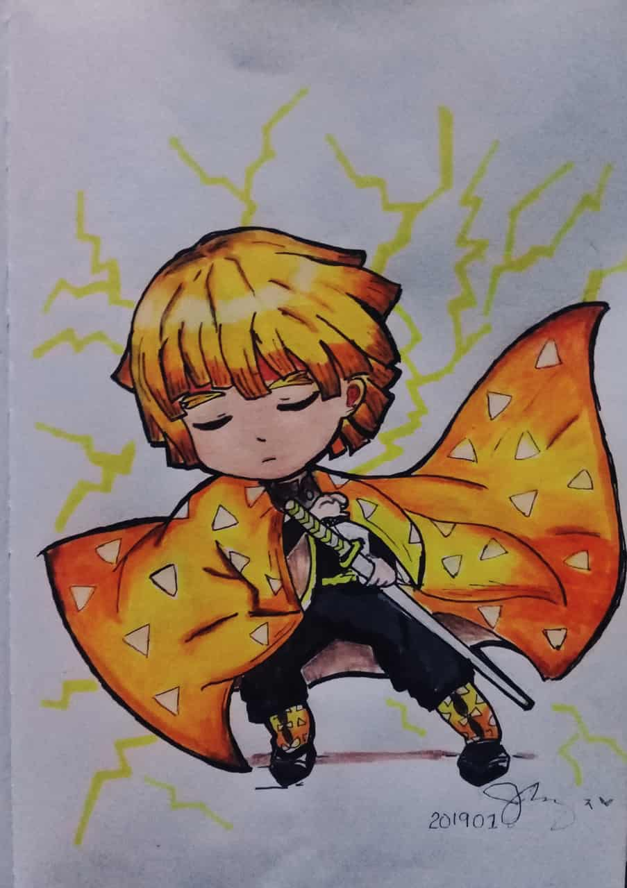 MaheART💕 Illust of Zamzamie ARTstreet_Ranking Trace&Draw【Official】 kawaii art KimetsunoYaiba anime AgatsumaZenitsu