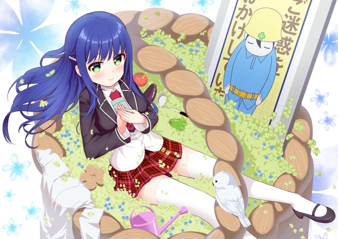 【あんハピ♪】ヒバリちゃん Illust of シリアル あんハピ♪ 雲雀丘瑠璃 青髪 クローバー