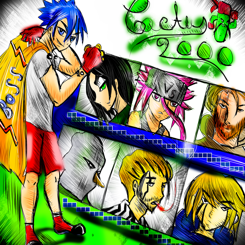 Cactus 2000 Magazine Cover (new and old edition) Illust of AcP MySecretSocietyContest GUNDAM