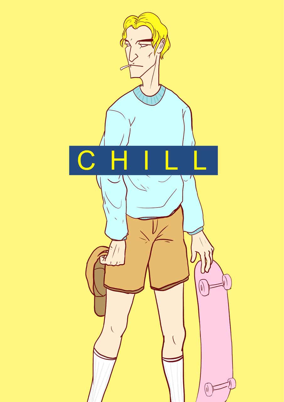 CHILL Illust of ggday April.2020Contest:Color ARTstreet_Ranking chill painting yellow