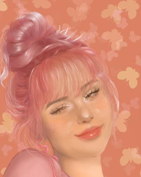 pinkgirl Illust of JordynA April.2020Contest:Color ARTstreet_Ranking girl pink