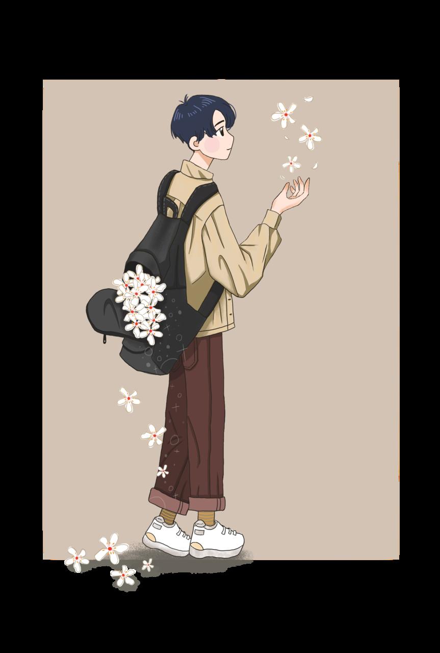 與油桐花相遇 Illust of NOCUPLIN April2021_Flower