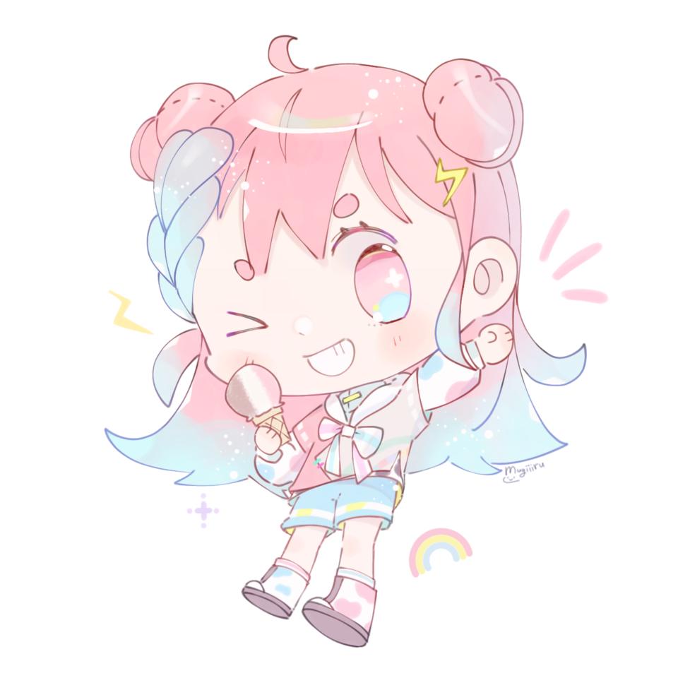 Umai Illust of mugiiiru ARTstreet_Ranking_Contest oc pastelcolors pink colorful happy kawaii chibi cutegirl animegirl pastel