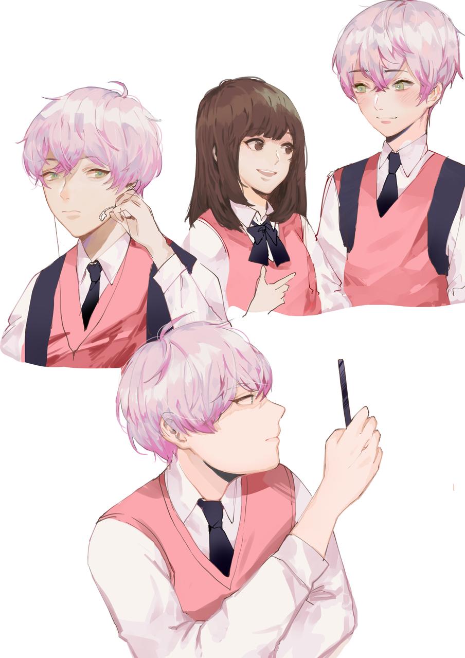 High School Crush Illust of homuhomy shoujo_illustration