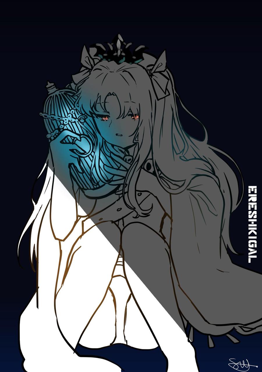 에레쟝 뽑았다 Illust of SW_* medibangpaint エレシュキガル 에레쉬키갈 Fate/GrandOrder