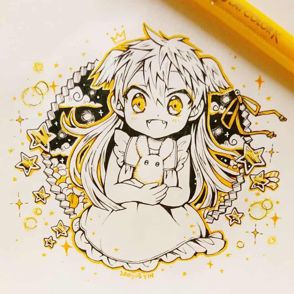 【祓い師の種・ティアラ】 Illust of yinhidaka 花子くん girl 源てぃあらちゃん handdrawn doodle 源てぃあら Toilet-boundHanako-kun