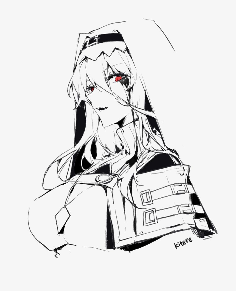 Illust of kitere illustration fanfic Specter 同人 woman girl Arknights medibangpaint