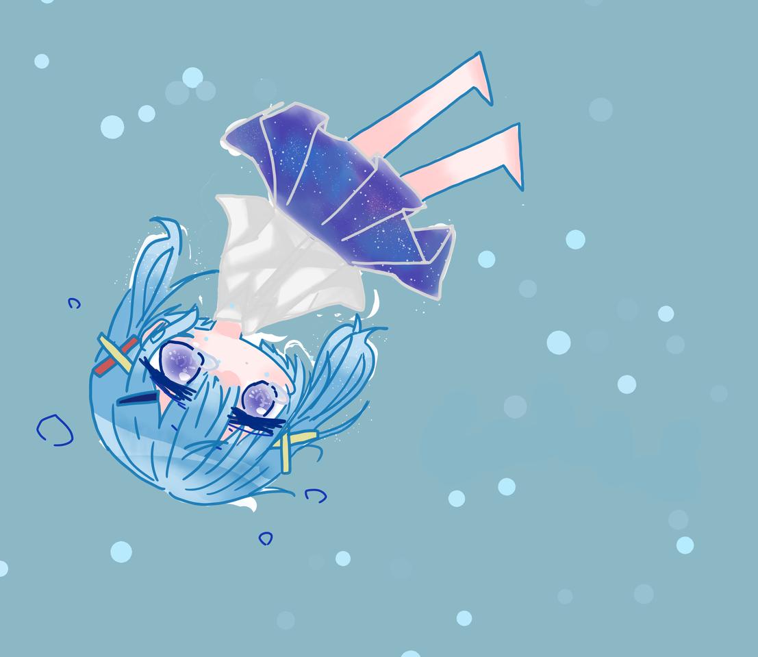 もっと深く。 Illust of めだまやき#中2病 chibi blue water digital uniform メディバン初心者 kawaii