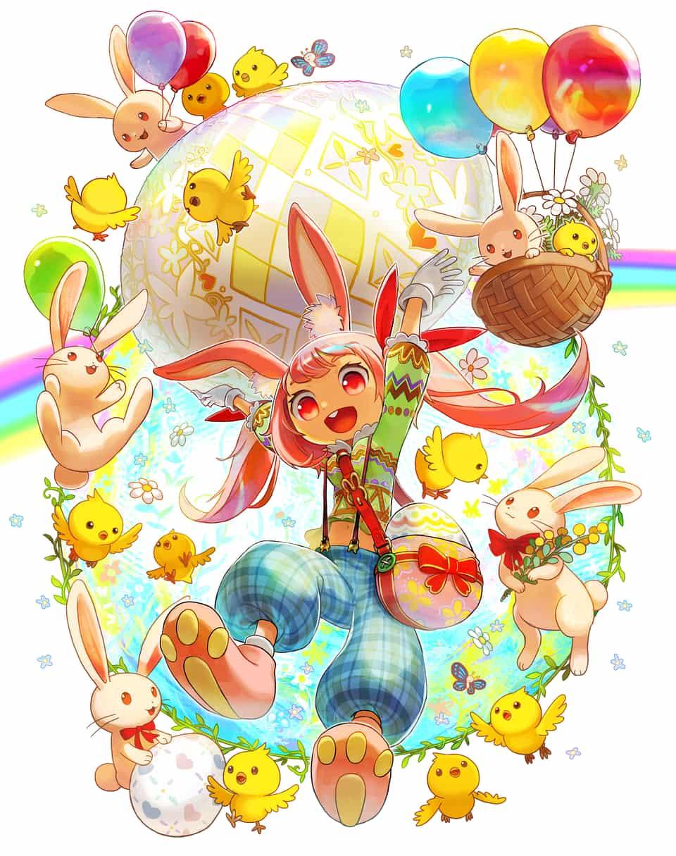 イースター! Illust of ティキン March.2020Contest:Easter original rabbit うさぎ耳 ひよこ
