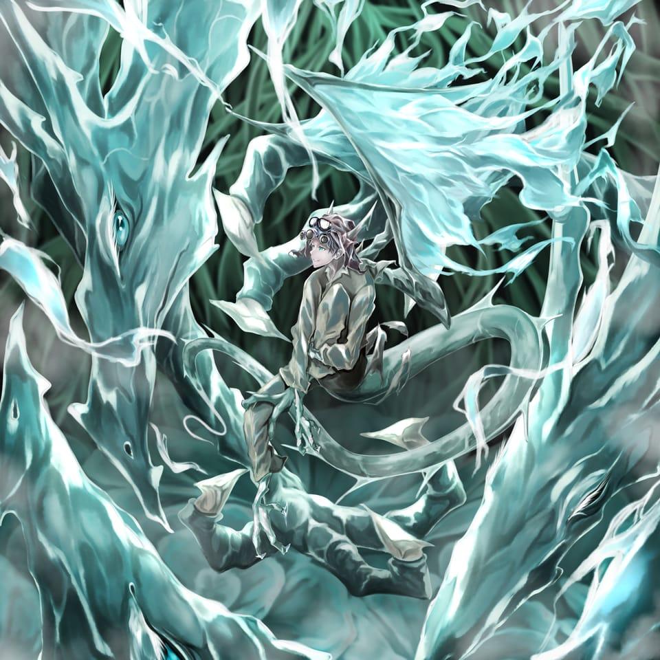 木綿の木/Cotton tree Illust of オニコロシ/生き方/帰り路 dragon 羽 original 木 oc