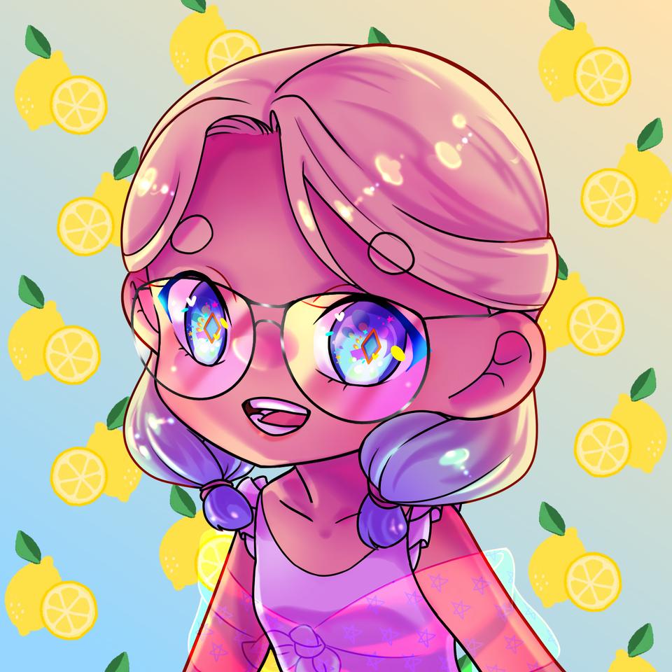 Lemonade Illust of kcrosa freeprofilepic art girl beach pastel cute summer Lemon sunset color
