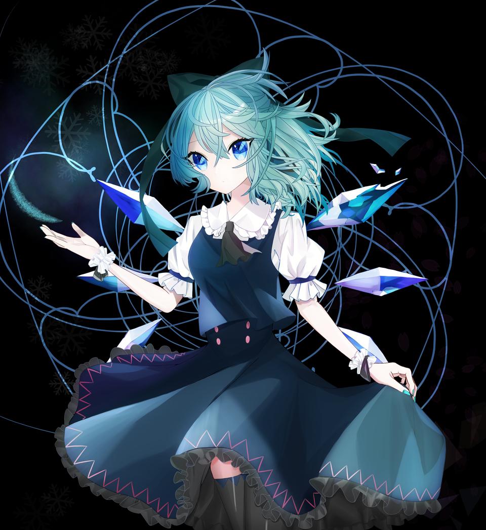 ICE Illust of CHI-Arc チルノ ice ribbon Touhou_Project おんなのこ 東方紅魔郷