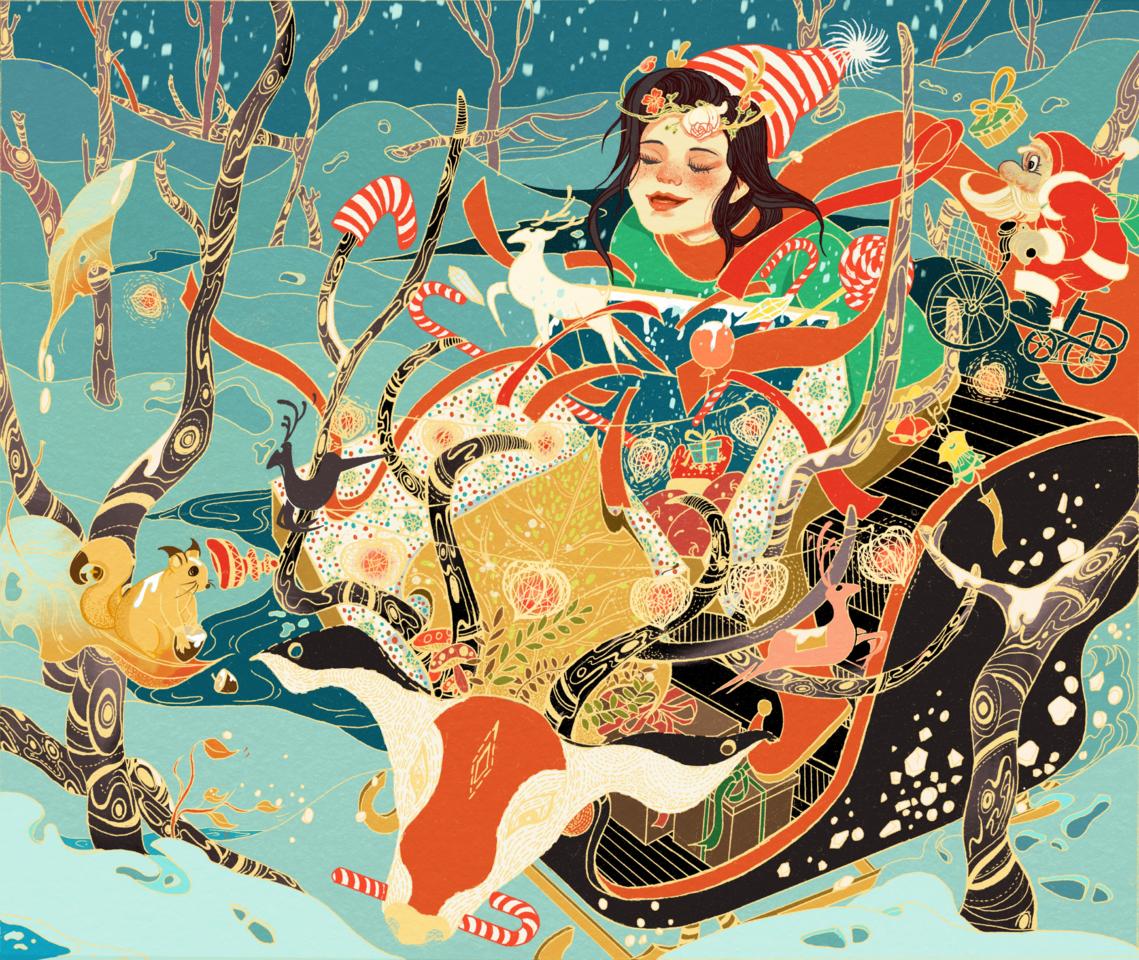 圣诞小姐姐也太可爱了 Illust of ashen face December2020_Contest:Santa medibangpaint