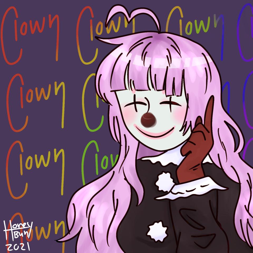 𝒄𝒍𝒐𝒘𝒏 𝒄𝒍𝒐𝒘𝒏 𝒄𝒍𝒐𝒘𝒏 𝒄𝒍𝒐𝒘𝒏  Illust of 𝔥𝔬𝔫𝔢𝔶𝔟𝔲𝔫 newyear cute girl clown medibangpaint illustration practice medibang