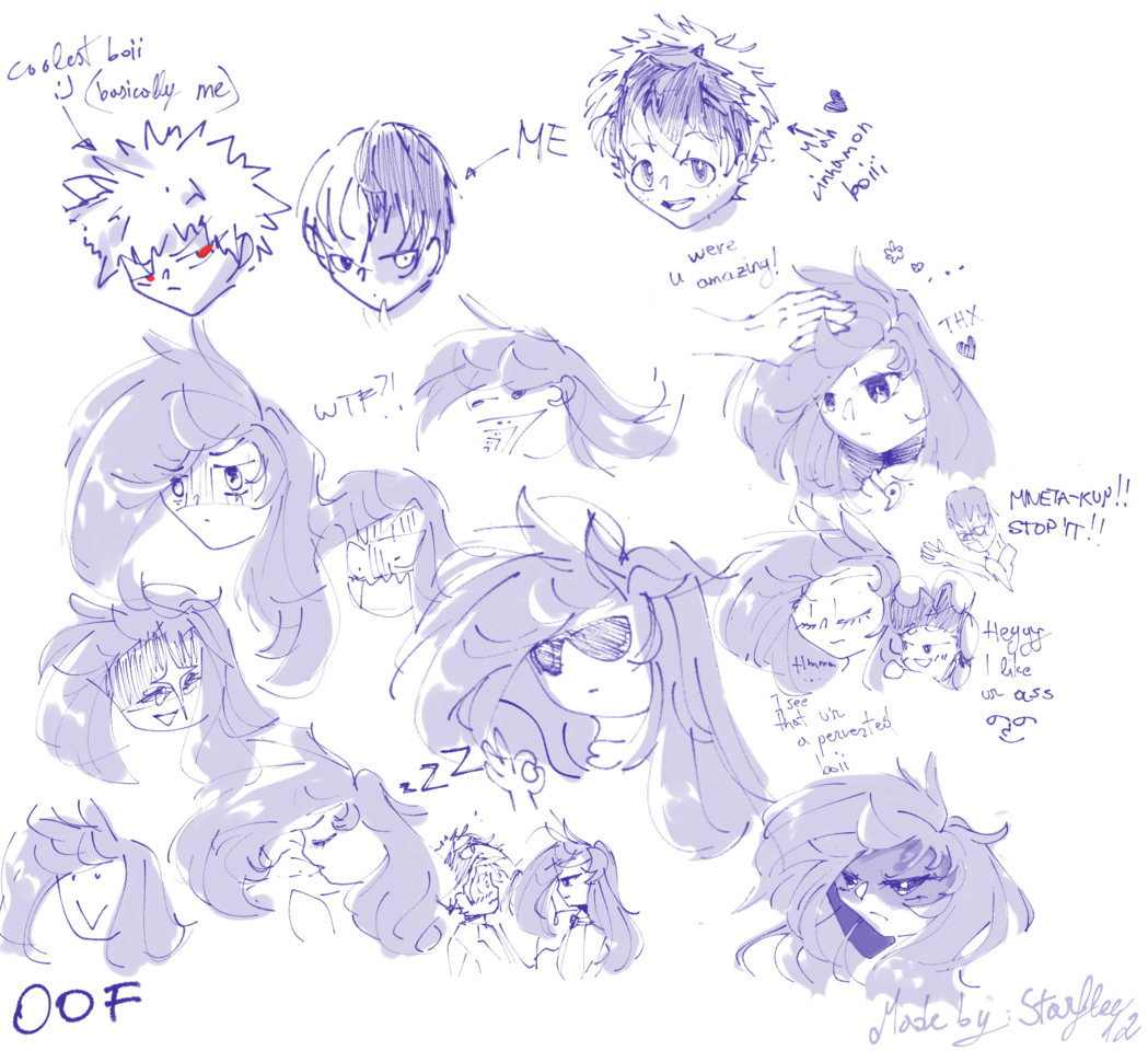 DOODLE #2 (added some BNHA sketches)