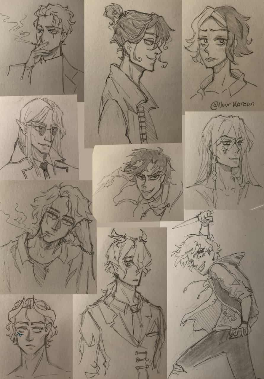 All the sketches I did during quarantine so far Illust of SH523 coronavirus sketch quarantine practice