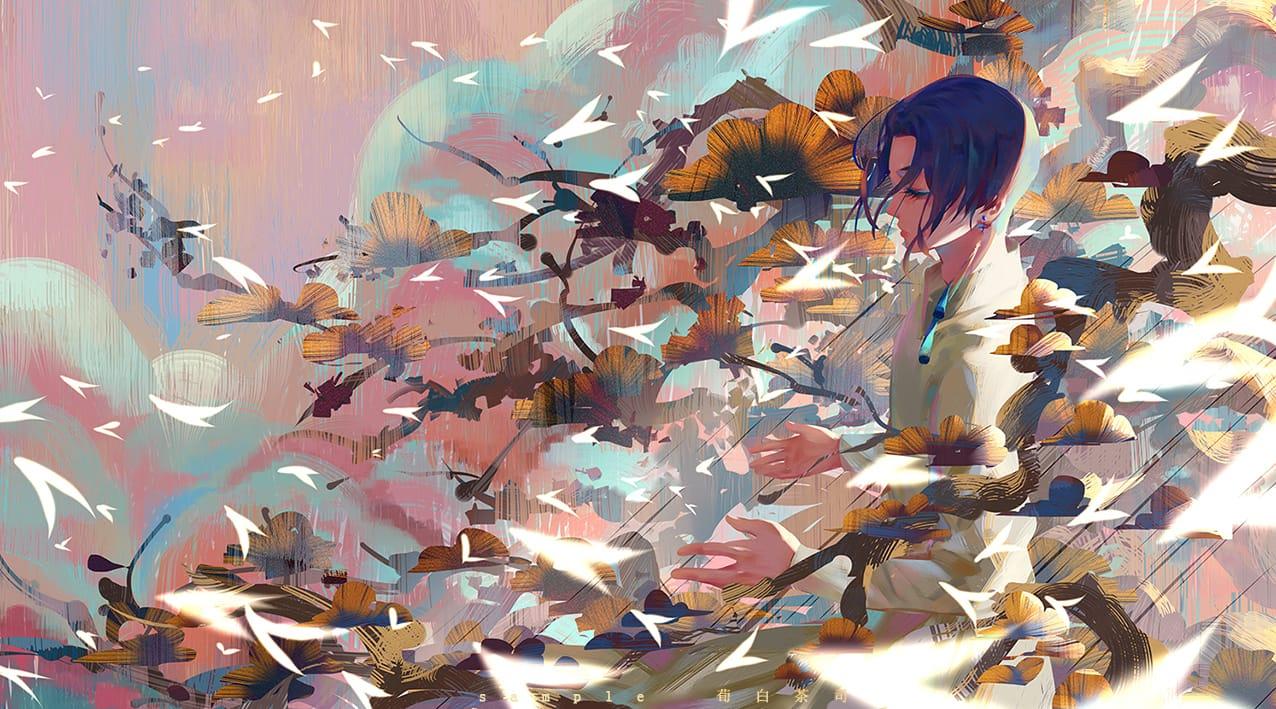/ 韵之光 / Illust of 荀白茶司 illustration 光影 场景 portrait 插画,原创