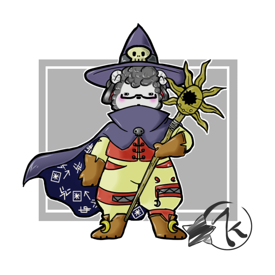 Wizardmon Cordero ♥ Illust of Karenhc art fursona fanart oc cute anime illustration color digital chibi