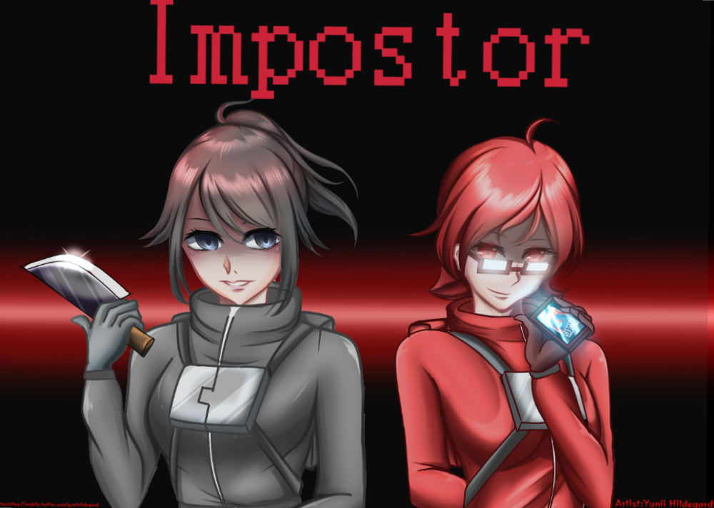 Yandere Simulator [Among us Crossover version]  Illust of Yunii11x YandereSimulatorFanArtContest Ayano us, Yandere aishi, Among simulator fanart chan, Info