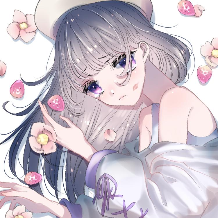 いちごと花