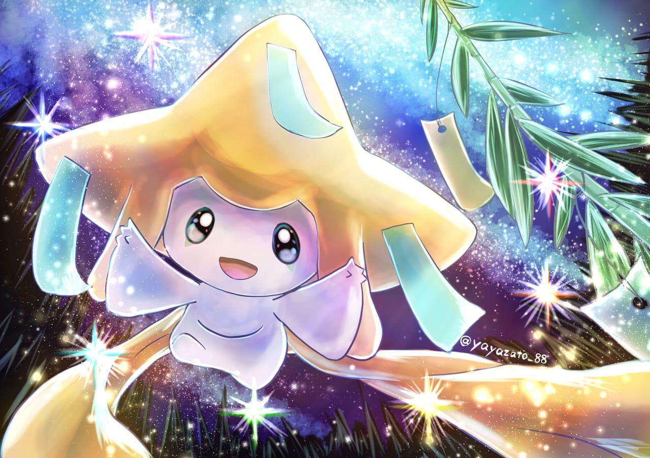 君の願いは? Illust of 88里 pokemon 七夕 ジラーチ星祭 Jirachi