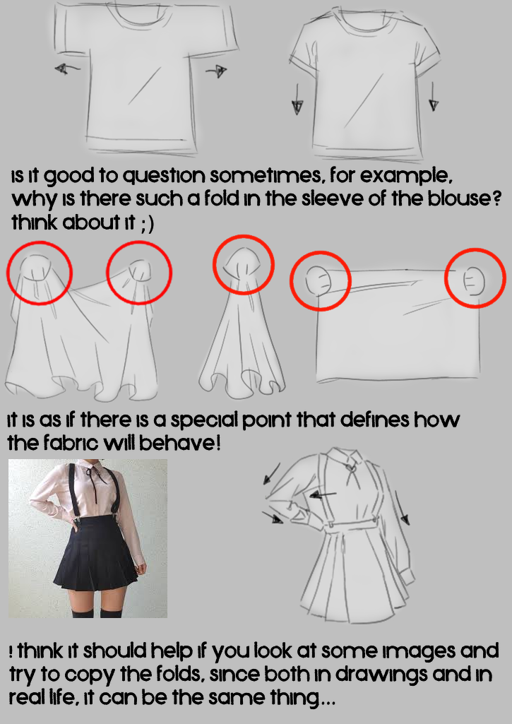 how I draw folds part 2 + tips to draw skirts Illust of -lulu- {jazzghost mode} The_Challengers medibangpaint doodle gray tutorial
