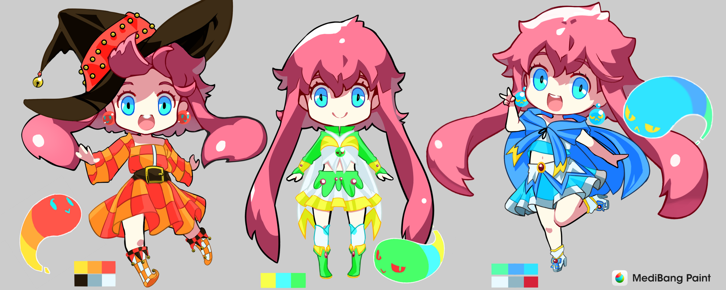 Medy-chan Illust of Karenhc chibi Dress-up_Challenge drawing animegirl color cute anime beautiful kawaii digital