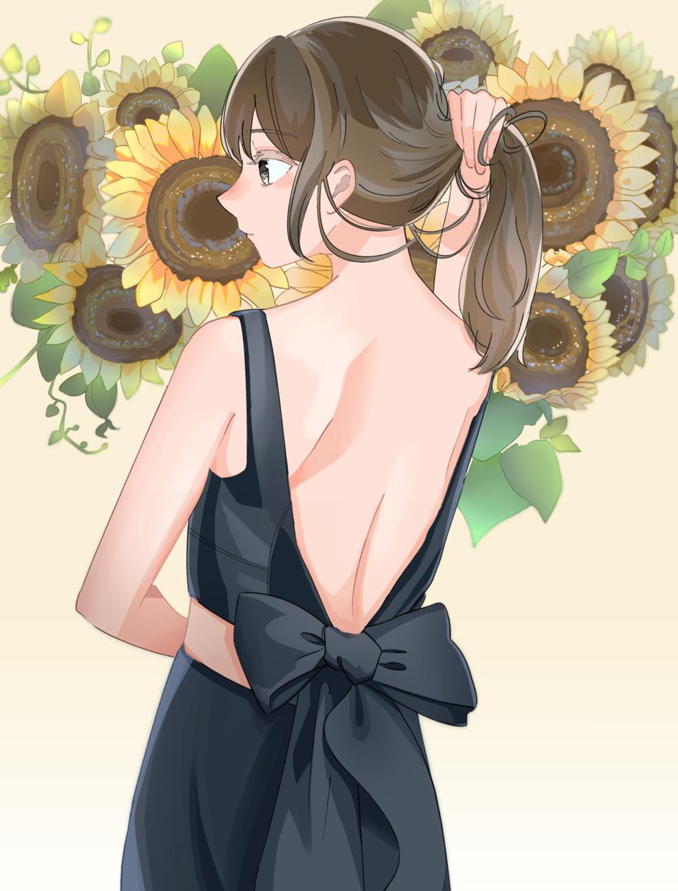 太陽のような Illust of ゆかもり original girl oc medibangpaint summer ひまわり