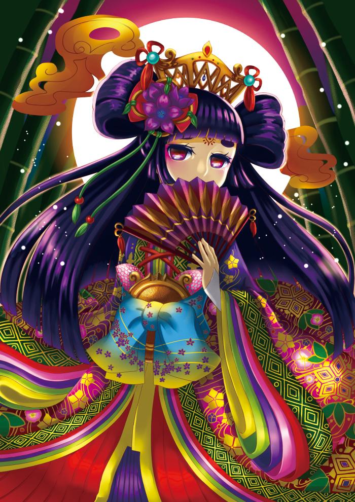 かぐや姫 Illust of いくら@お仕事募集中 昔話 Japanese_style かぐや姫 girl