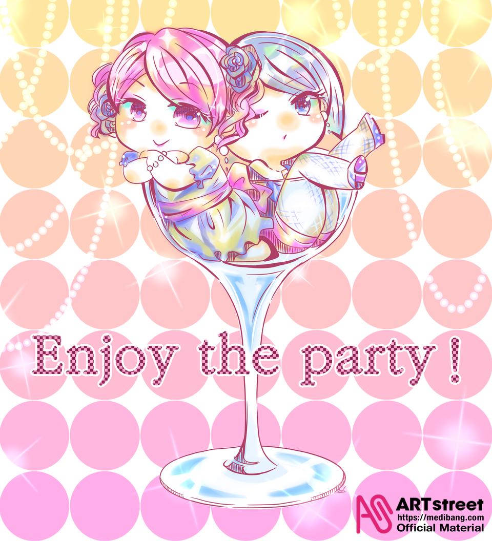 Enjoy the party Illust of honjoumana tracedrawing oc girl original