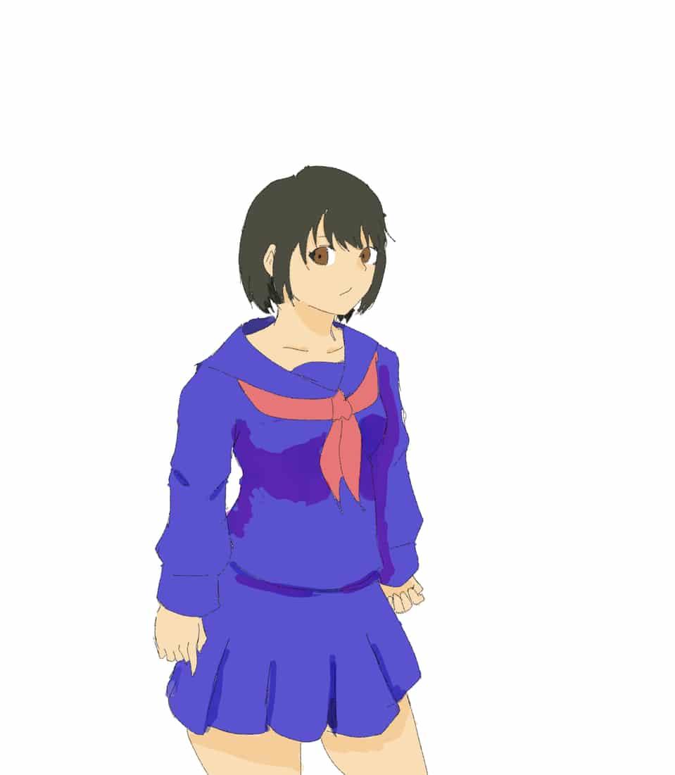 イラスト描き始めました Illust of 池の水 girl uniform