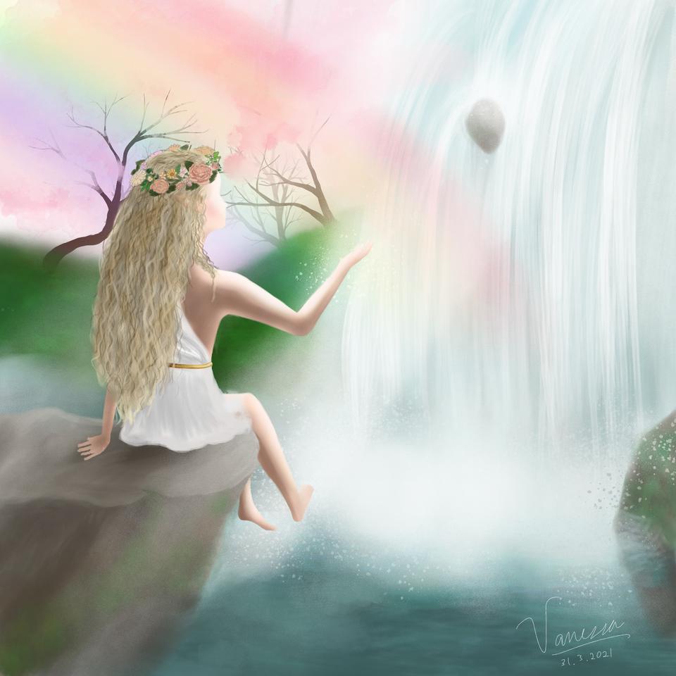 fairy girl Illust of Cold Lemon Tea February2021_Fantasy medibangpaint