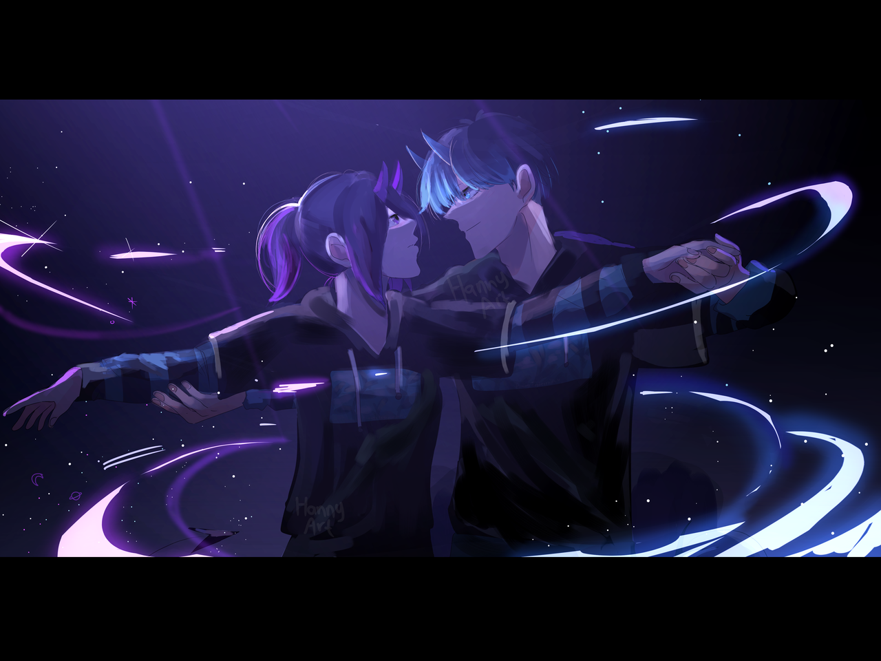 Dance with me in the dark  Illust of 23 medibangpaint