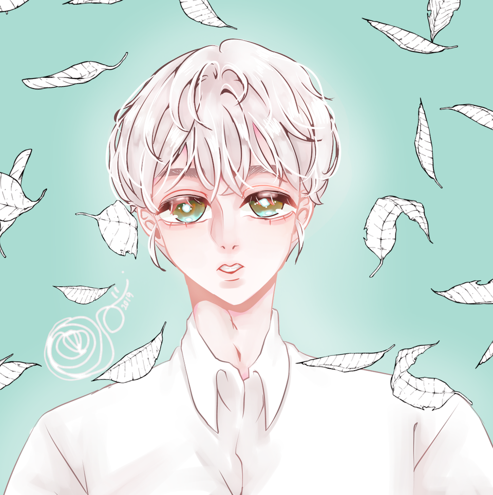 리퀘 Illust of 필푸레 medibangpaint illustration 커미션중 painting 하얀 eyes character request 백 이쁨