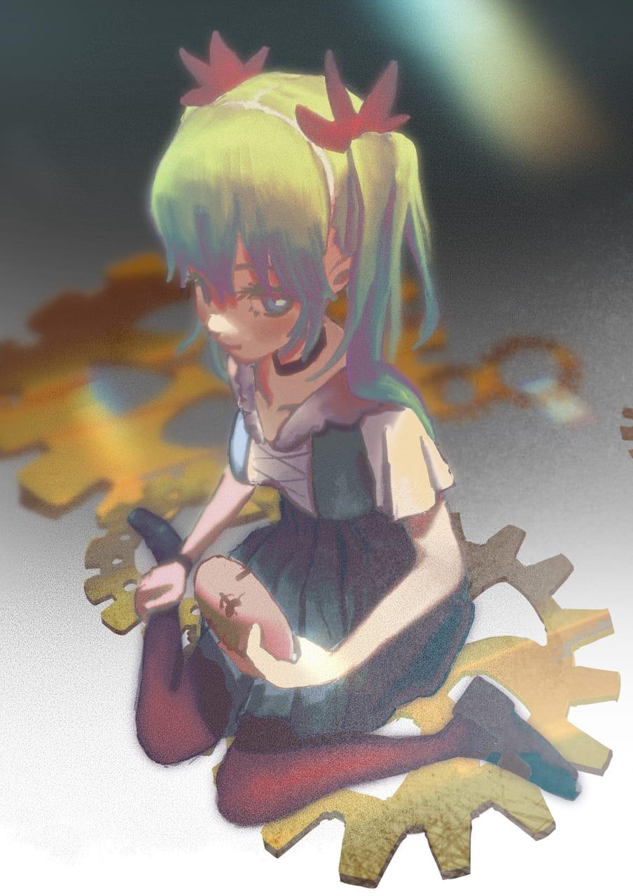 からくりピエロ Illust of w hatsunemiku VOCALOID