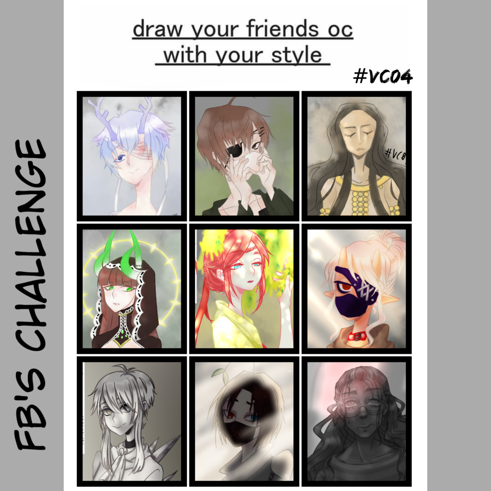Draw Your Friends Oc Wit Your Style Vc04 Illustrations Medibang