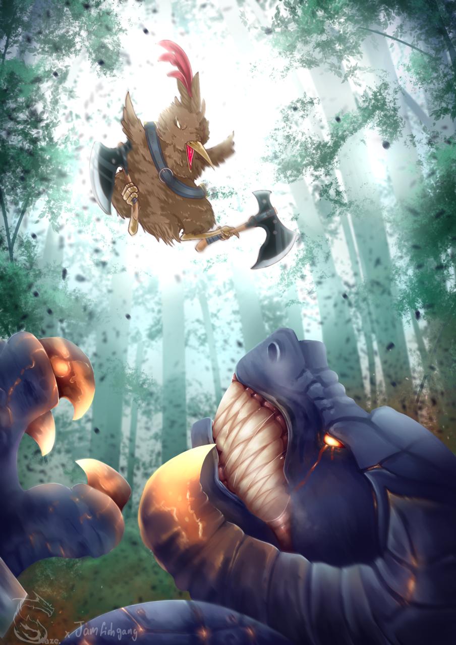 Borb of War Illust of Kazecoo fantasy drawing animal Medibang original illustration Artwork digital art