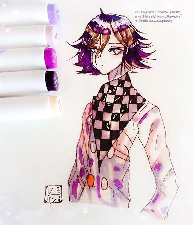 kokichi oma (TRADITIONAL ART) - danganronpa v3