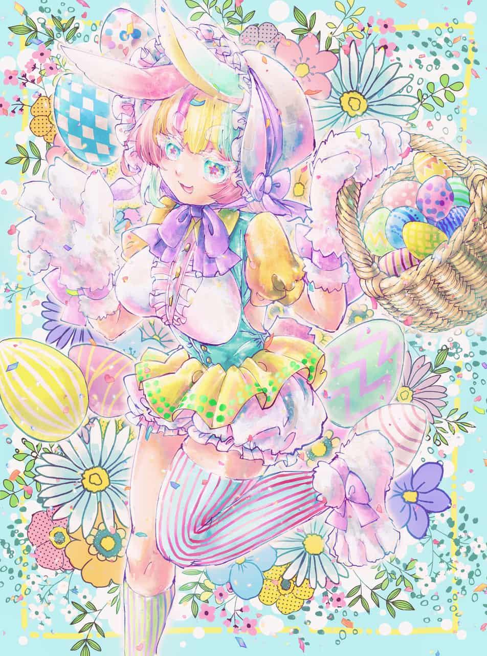 イースターバニー Illust of しげねこ March.2020Contest:Easter けもみみ Personification イースターバニー イースター rabbit