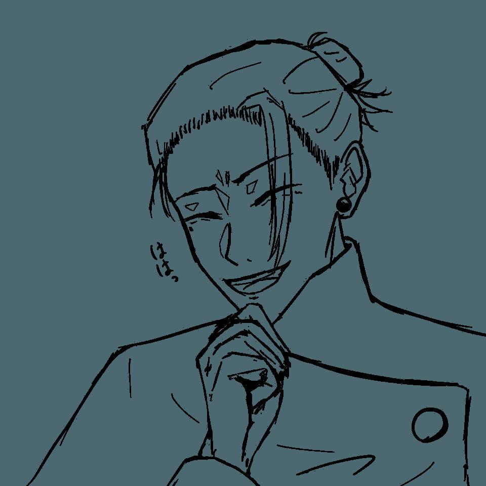 傑の線画 Illust of りりもん/±± #4級絵師 夏油傑 line_art JujutsuKaisen