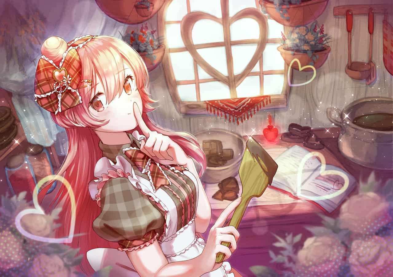 かくしあじはヒミツ♡ Illust of SAHARA Feb2020:VDAY ハート girl ValentinesDay チョコレート