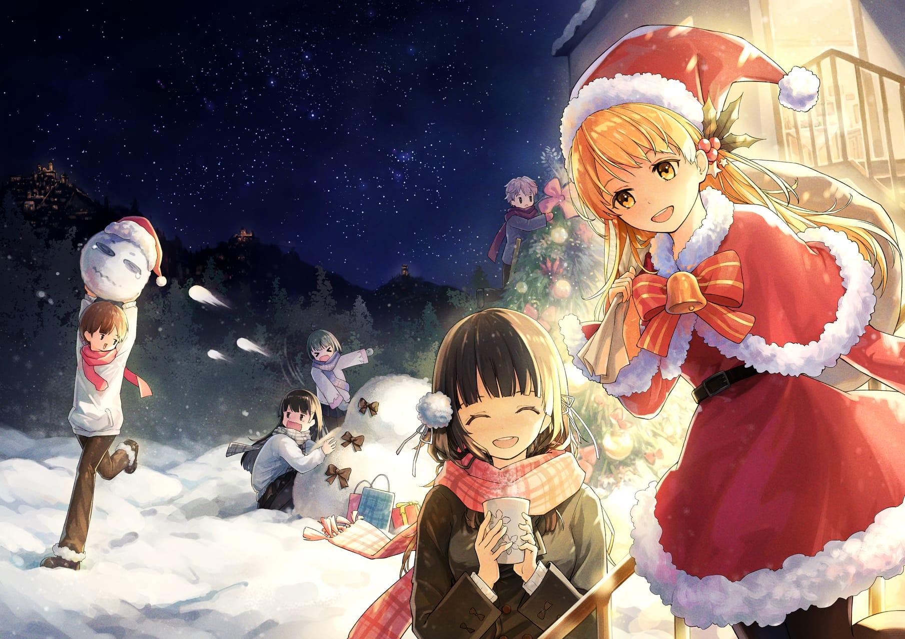 冬幕下圣马力诺的圣诞老人